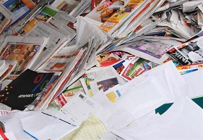 Ophalen van oud papier en karton
