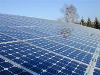 Foto van zonnepanelen.